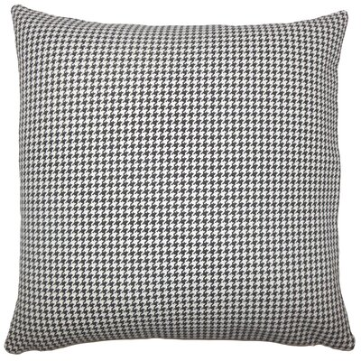 Dunphy Houndstooth Floor Pillow Color: Black /White
