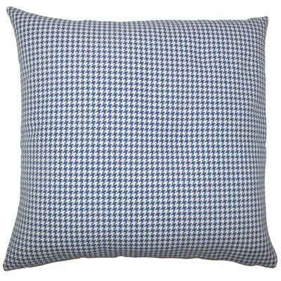 Dunphy Houndstooth Floor Pillow Color: Blue