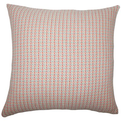 Gaughan Plaid Floor Pillow Color: Apricot