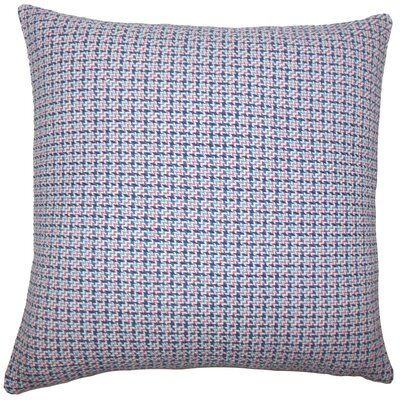 Gaughan Plaid Floor Pillow Color: Blueberry