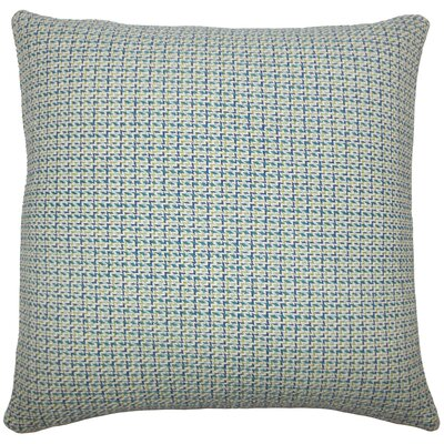 Gaughan Plaid Floor Pillow Color: Blue/Green