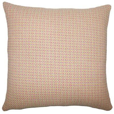 Gaughan Plaid Floor Pillow Color: Peach/Green