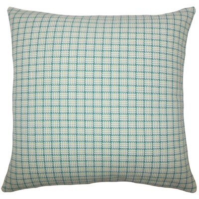 Heacock Plaid Floor Pillow Color: Aegean