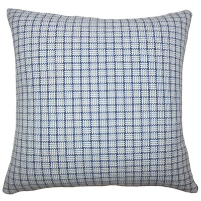 Heacock Plaid Floor Pillow Color: Blue