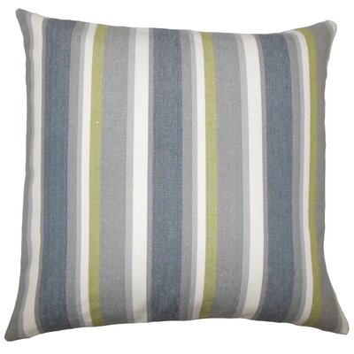 Alder Striped Floor Pillow Color: Metal