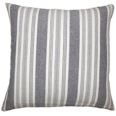 Alder Striped Floor Pillow Color: Black/White