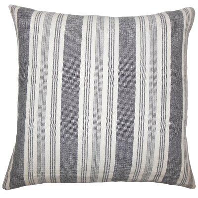 Alder Striped Floor Pillow Color: Black/White