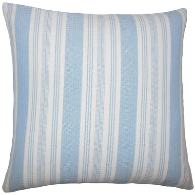 Alder Striped Floor Pillow Color: Chambray