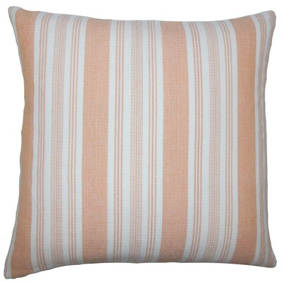 Alder Striped Floor Pillow Color: Orange