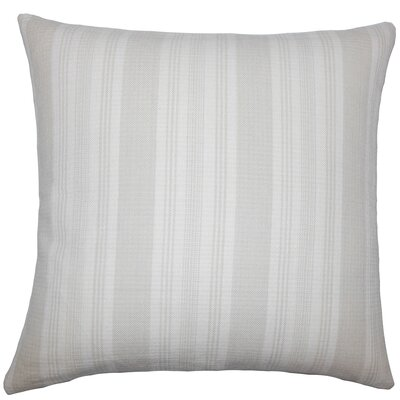 Alder Striped Floor Pillow Color: Putty