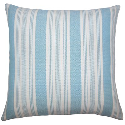 Alder Striped Floor Pillow Color: Turquoise
