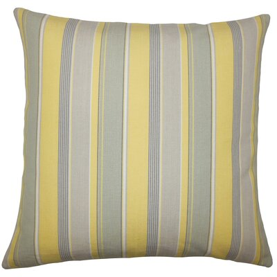 Aguon Striped Floor Pillow Buttercup Color: Buttercup