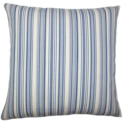 Cheree Striped Floor Pillow Color: Blue