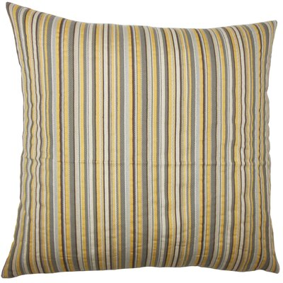 Alberta Striped Floor Pillow Color: Coconut