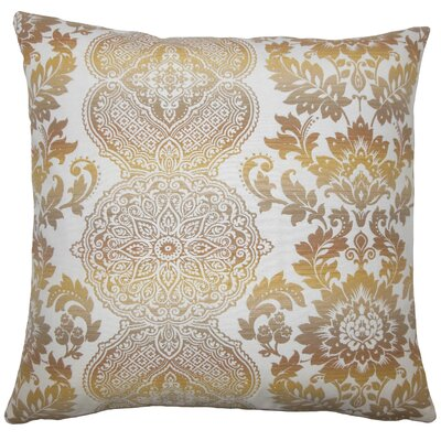 Dreyer Damask Floor Pillow Limestone Color: Limestone