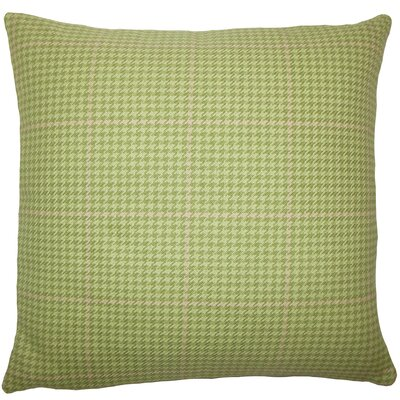 Chaz Houndstooth Floor Pillow Color: Green