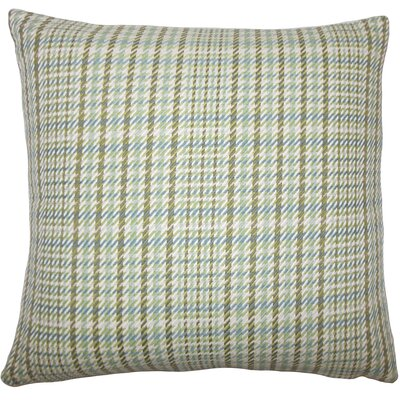 Piper Plaid Floor Pillow Color: Avocado