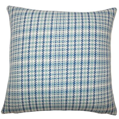 Piper Plaid Floor Pillow Color: Caribbean