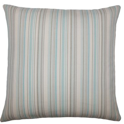 Torington Striped Cotton Throw Pillow Color: Sea Glass