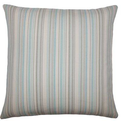 Torington Striped Cotton Throw Pillow Color: Sea Glass
