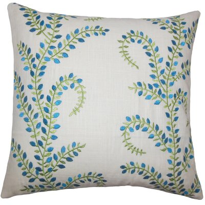 Laverne Floral Floor Pillow Color: Aqua/Green