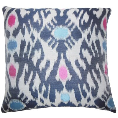 Carlyle Ikat Floor Pillow Color: Blue