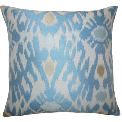 Carlyle Ikat Floor Pillow Color: Chambray