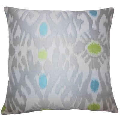 Carlyle Ikat Floor Pillow Color: Gray