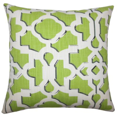 Layne Geometric Floor Pillow Color: Citrus