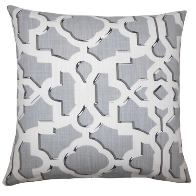 Layne Geometric Floor Pillow Color: Gray