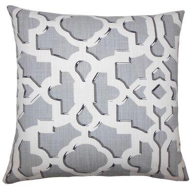 Layne Geometric Floor Pillow Color: Gray