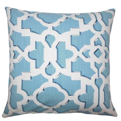 Layne Geometric Floor Pillow Color: Sky