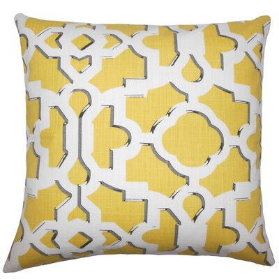 Layne Geometric Floor Pillow Color: Sunflower