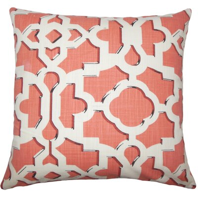 Layne Geometric Floor Pillow Color: Sunrise