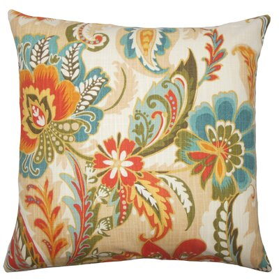 Adelina Floral Floor Pillow Color: Autumn