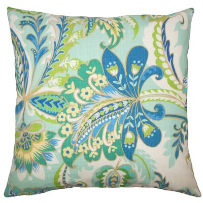 Adelina Floral Floor Pillow Color: Lagoon