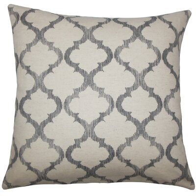 Leachman Geometric Floor Pillow Color: Gray
