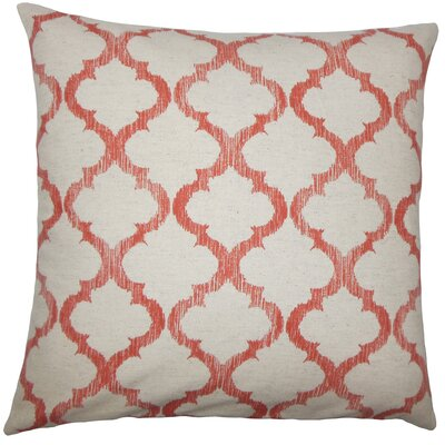 Leachman Geometric Floor Pillow Color: Mango