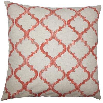 Leachman Geometric Floor Pillow Color: Mango