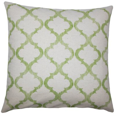 Leachman Geometric Floor Pillow Color: Palm