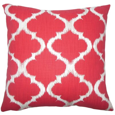 Fleetwood Geometric Floor Pillow Color: Cherry