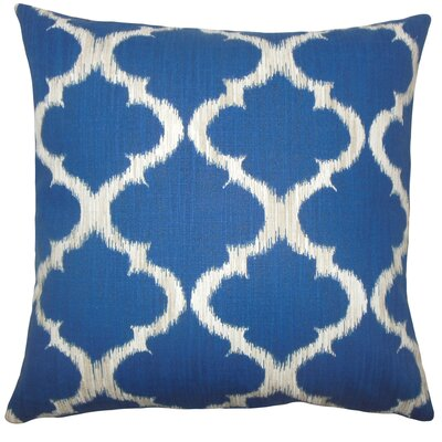 Fleetwood Geometric Floor Pillow Color: Marine