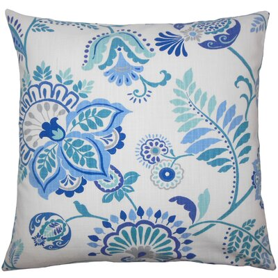 Adeline Floral Floor Pillow Color: Baltic