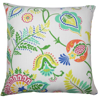 Adeline Floral Floor Pillow Color: Opal