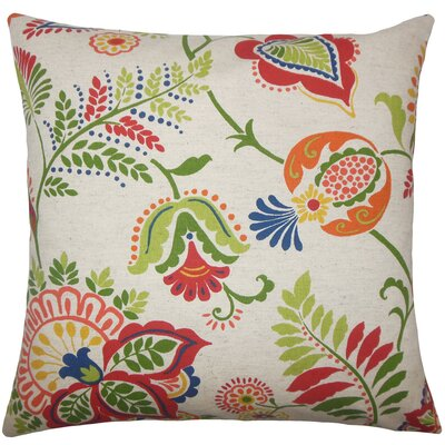 Amaud Floral Floor Pillow Color: Jewel