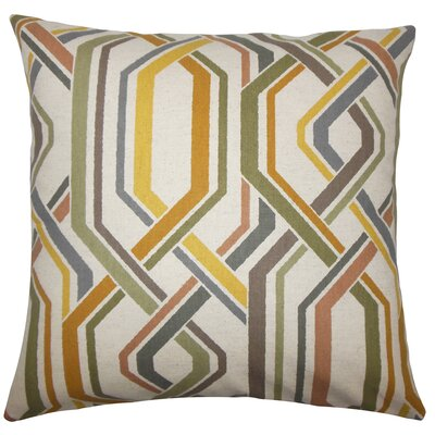 Darrin Geometric Floor Pillow Color: Gray
