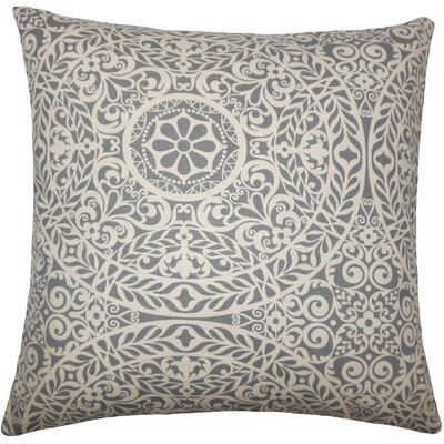 Apolline Damask Floor Pillow Color: Gray