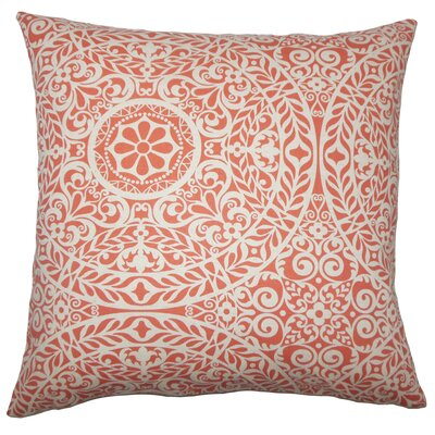 Apolline Damask Floor Pillow Color: Mango