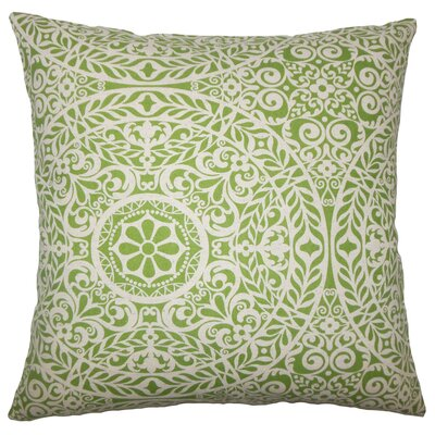 Apolline Damask Floor Pillow Color: Palm