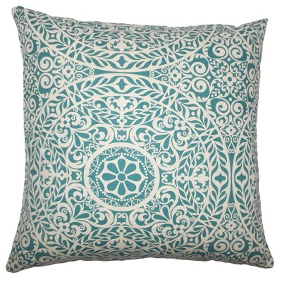 Apolline Damask Floor Pillow Color: Teal